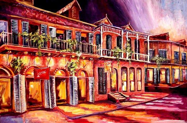 Art: Night in New Orleans - SOLD by Artist Diane Millsap