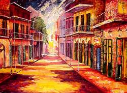 Art: Night Glow - New Orleans - SOLD by Artist Diane Millsap