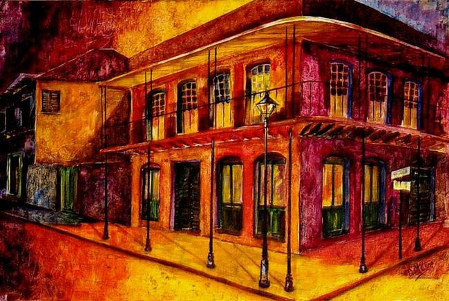 Art: French Quarter-After Hours-SOLD by Artist Diane Millsap