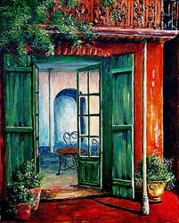 Art: New Orleans French Quarter Scene - SOLD by Artist Diane Millsap