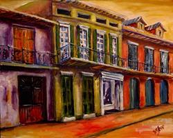 Art: Vieux Carre' - SOLD by Artist Diane Millsap