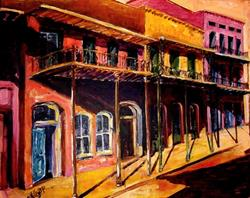 Art: FRENCH QUARTER AFTERNOON - SOLD by Artist Diane Millsap