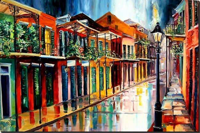 Art: French Quarter Rain main.jpg by Artist Diane Millsap