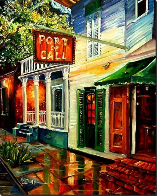 Art: Port of Call - New Orleans- SOLD by Artist Diane Millsap
