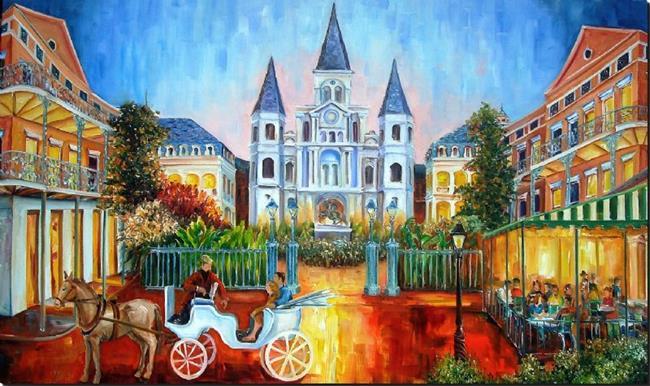 Art: New Orleans' Jackson Square SOLD by Artist Diane Millsap