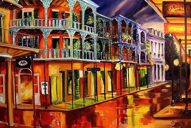 Art: French Quarter Glimmer - SOLD by Artist Diane Millsap