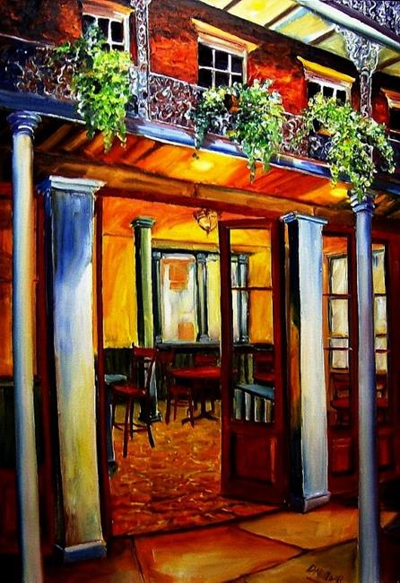 Art: French Quarter Cafe II - SOLD by Artist Diane Millsap