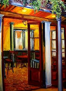 Detail Image for art French Quarter Cafe II - SOLD