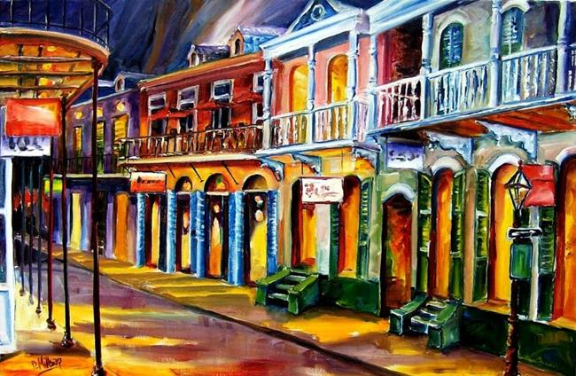 Art: Old Bourbon Street Charm - SOLD by Artist Diane Millsap