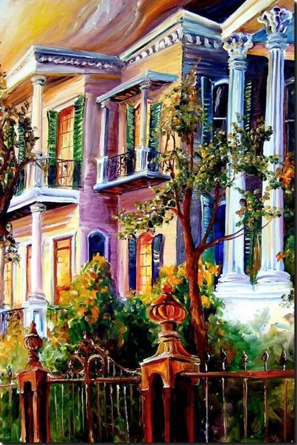Art: Garden district Sunset - SOLD by Artist Diane Millsap