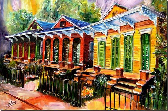 Art: Neighborhood Color! - SOLD by Artist Diane Millsap