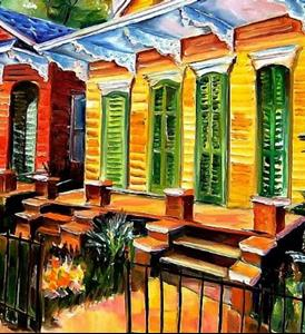 Detail Image for art Neighborhood Color! - SOLD