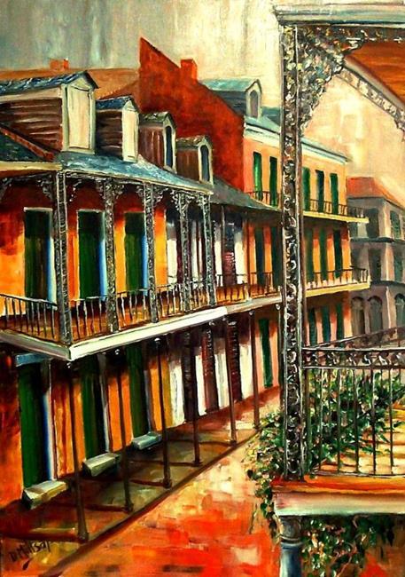 Art: Daybreak on St. Ann Street - SOLD by Artist Diane Millsap