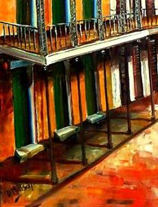 Detail Image for art Daybreak on St. Ann Street - SOLD