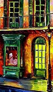 Detail Image for art Rainy French Quarter - Diptych - SOLD