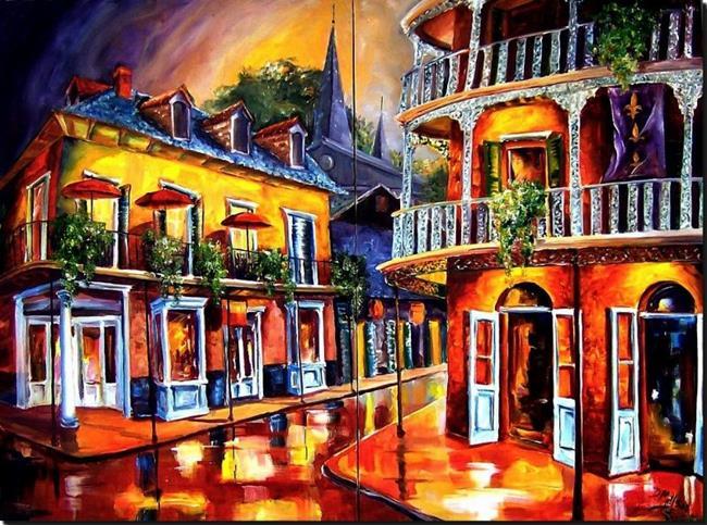 Art: Royal Street Reverie - Zahn Commission by Artist Diane Millsap