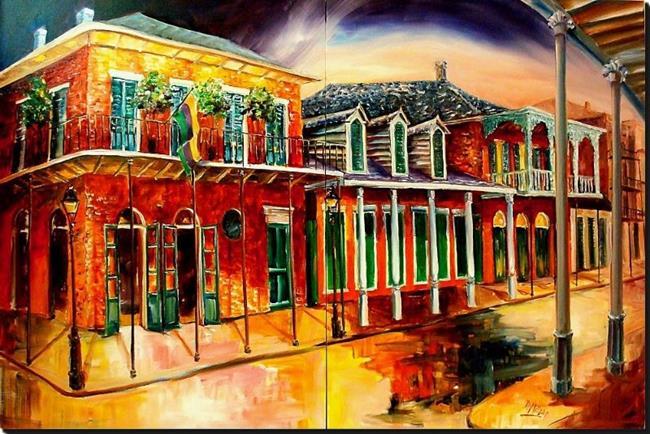 Art: St. Ann Street - Diptych - SOLD by Artist Diane Millsap