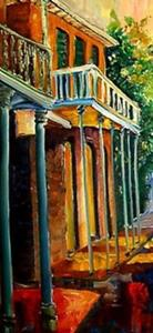 Detail Image for art French Quarter Rain - 2 panels- SOLD