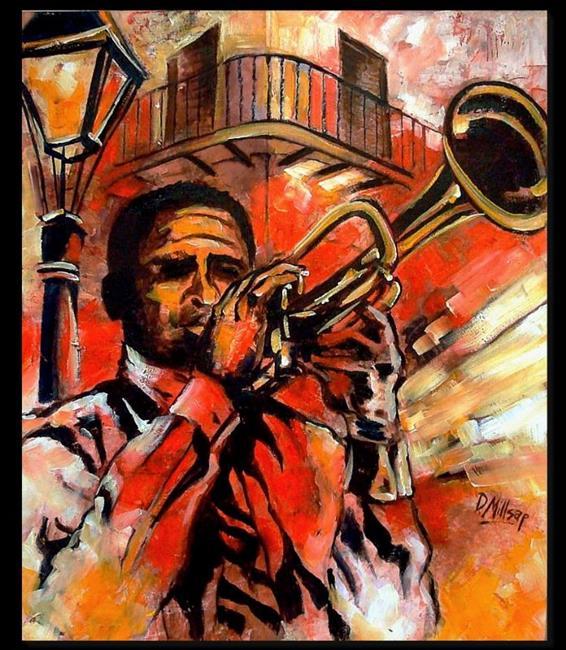 Art: Blues on Bourbon Street - SOLD by Artist Diane Millsap