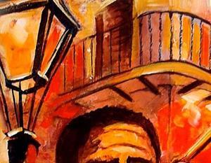 Detail Image for art Blues on Bourbon Street - SOLD