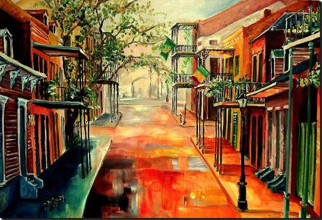 Art: Springtime in the Quarter - SOLD by Artist Diane Millsap