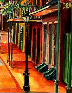 Detail Image for art Springtime in the Quarter - SOLD