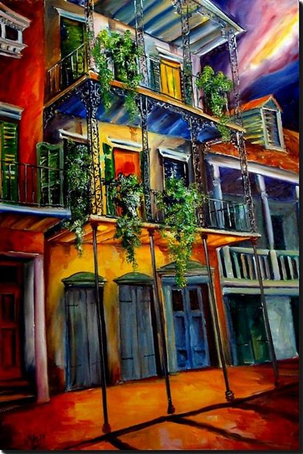 Art: Mysterious French Quarter - SOLD by Artist Diane Millsap
