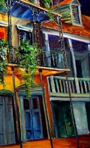 Detail Image for art Mysterious French Quarter - SOLD