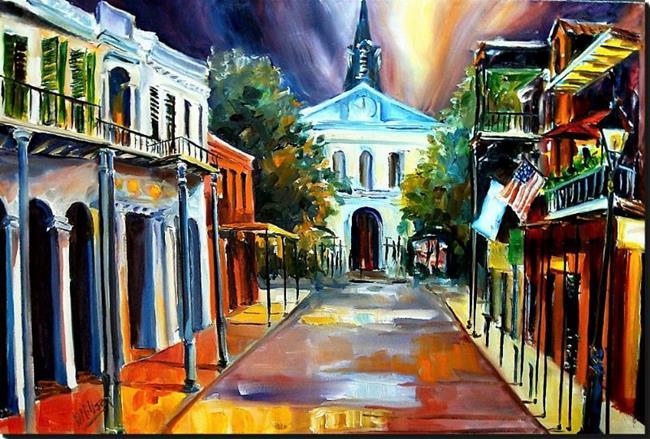 Art: Orleans Street at Night - SOLD by Artist Diane Millsap