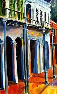 Detail Image for art Orleans Street at Night - SOLD