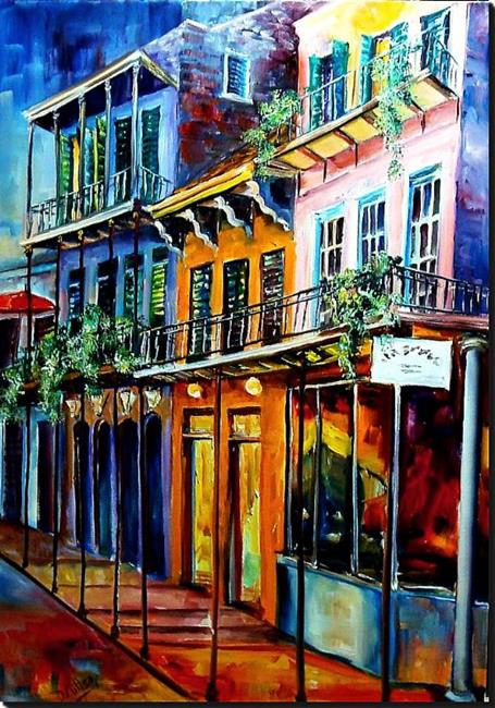 Art: French Quarter at Dusk - SOLD by Artist Diane Millsap
