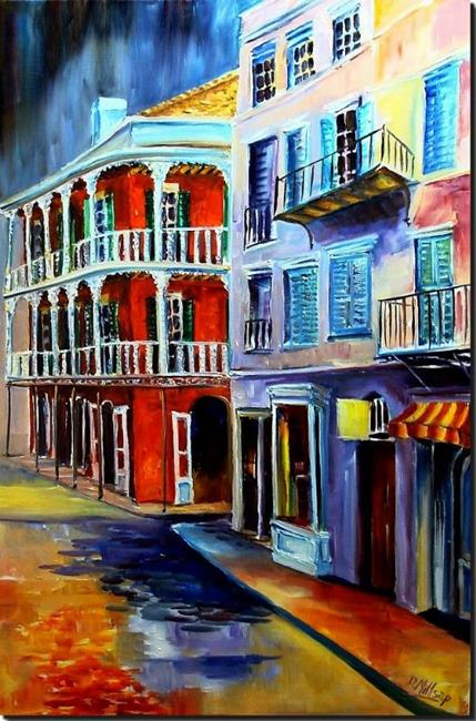 Art: Royal Street Splendor - SOLD by Artist Diane Millsap