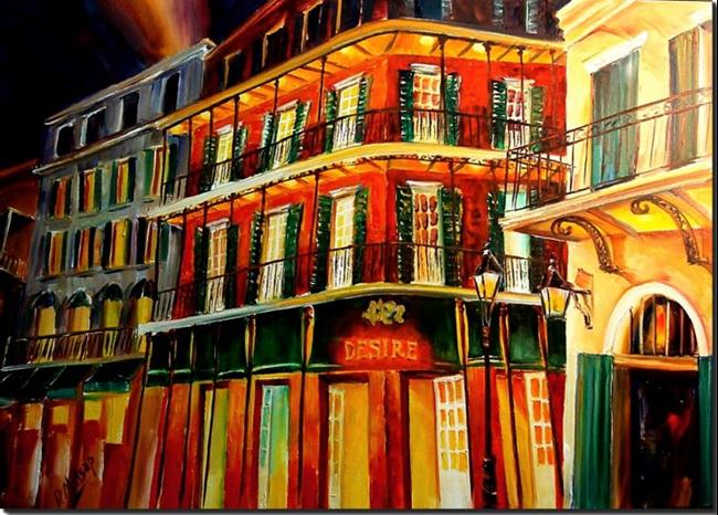 Art: Bourbon Street - SOLD by Artist Diane Millsap