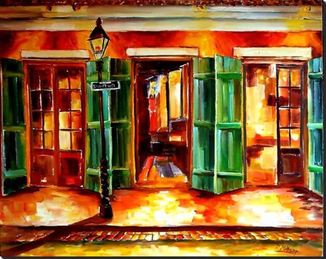 Art: Always Open on Bourbon Street - SOLD by Artist Diane Millsap