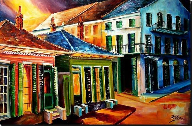 Art: Midnight on Dumaine Street - SOLD by Artist Diane Millsap
