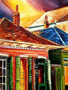 Detail Image for art Midnight on Dumaine Street - SOLD