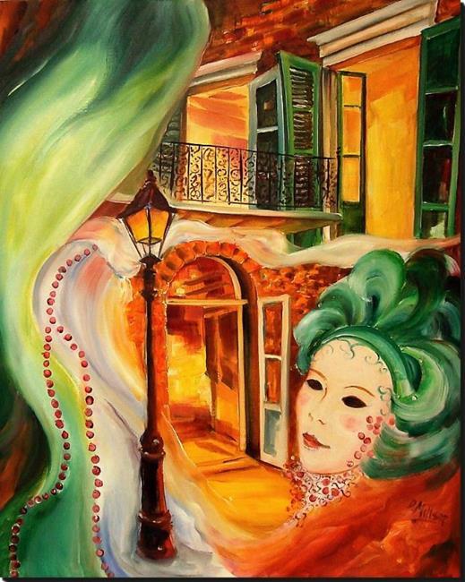 Art: Mardi Gras Illusion - SOLD by Artist Diane Millsap