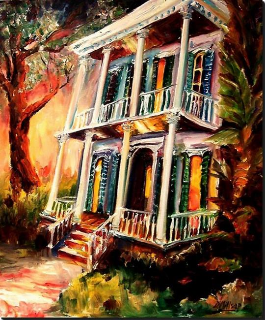 Art: Garden District Sunset II - SOLD by Artist Diane Millsap
