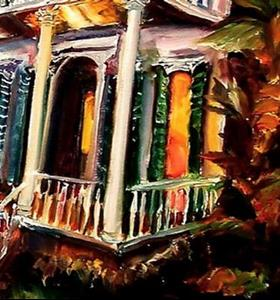 Detail Image for art Garden District Sunset II - SOLD
