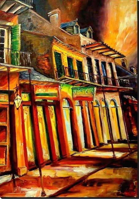 Art: Rockin' Bourbon Street - SOLD by Artist Diane Millsap