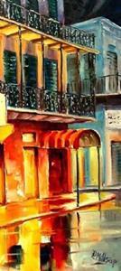 Detail Image for art Rain on Bourbon Street - SOLD