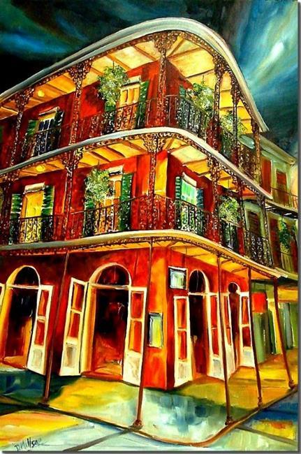 Art: French Quarter Joie - SOLD by Artist Diane Millsap