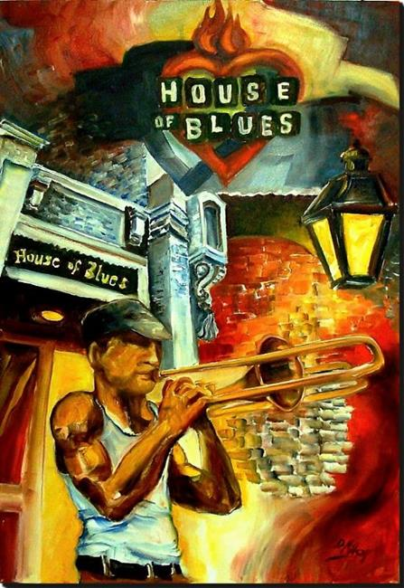 Art: New Orleans House of Blues - SOLD by Artist Diane Millsap