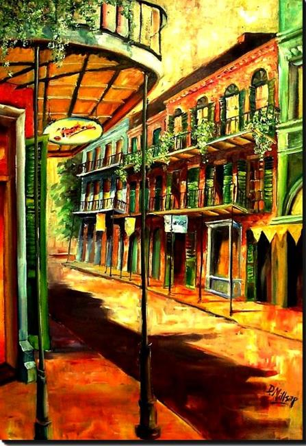 Art: Sunny French Quarter - SOLD by Artist Diane Millsap