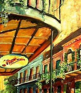 Detail Image for art Sunny French Quarter - SOLD