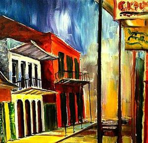 Detail Image for art Side Street in the Vieux Carre - SOLD