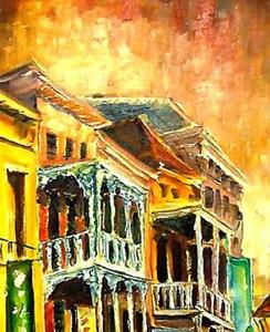 Detail Image for art Dusk on Iberville Street - SOLD