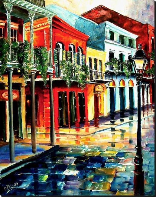 Art: Dawn on St. Peter Street - SOLD by Artist Diane Millsap