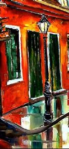Detail Image for art Rainy Day on Toulouse Street - SOLD