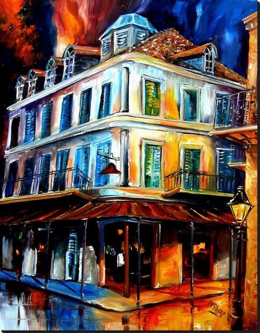 Art: Napoleon House in the French Quarter - SOLD by Artist Diane Millsap